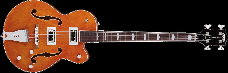 "G5440LSB Electromatic® Hollow Body 34"" Long Scale Bass, Rosewood Fingerboard, Orange"