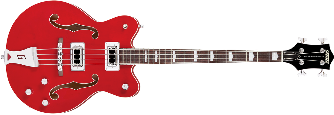 """G5442BDC Electromatic® Hollow Body 30.3"""" Short Scale Bass, Rosewood Fingerboard, Transparent Red"""