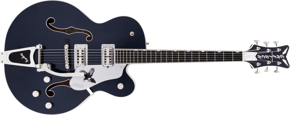 G6136T-RR Rich Robinson Signature Magpie with Bigsby®, Ebony Fingerboard, Raven's Breast Blue