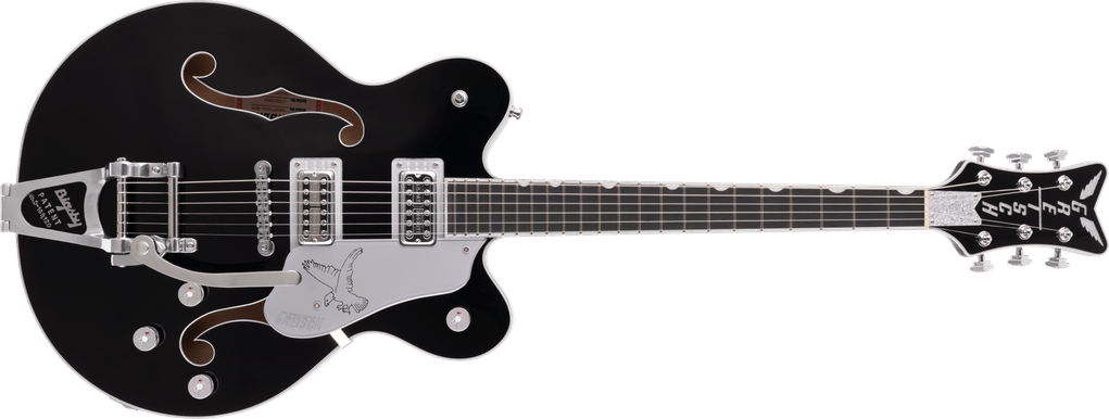 G6636TSL Players Edition Silver Falcon™ Center Block Double-Cut with String-Thru Bigsby®, Filter'Tron™ Pickups, Black