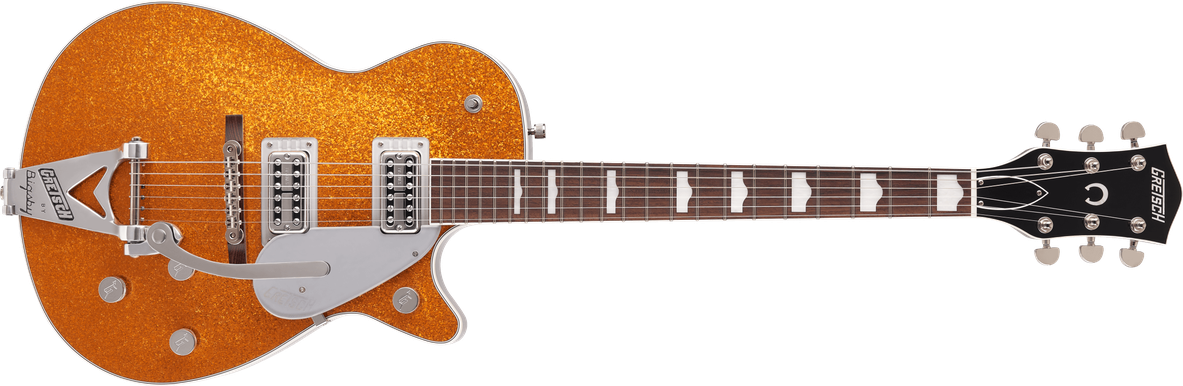 G6129T-89 Vintage Select '89 Sparkle Jet™ with Bigsby®, Rosewood Fingerboard, Gold Sparkle