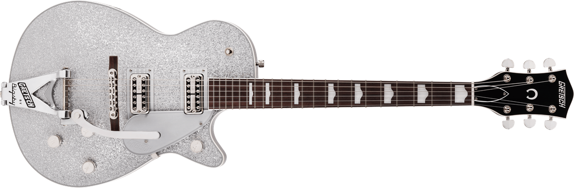 G6129T-89 Vintage Select '89 Sparkle Jet™ with Bigsby®, Rosewood Fingerboard, Silver Sparkle