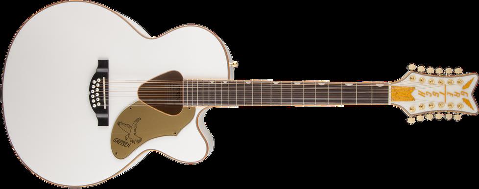 G5022CWFE-12 Rancher™ Falcon Jumbo 12-String Cutaway Electric, Fishman® Pickup System, White