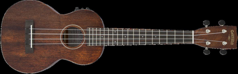 G9110-L A.E. Concert Long-Neck Ukulele with Gig Bag, Ovangkol Fingerboard, Fishman® Kula Pickup, Vintage Mahogany Stain