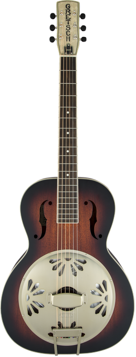 G9241 Alligator™ Biscuit Round-Neck Acoustic / Electric Resonator Guitar