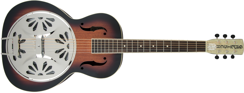 G9220 Bobtail™ Round-Neck A.E., Mahogany Body Spider Cone Resonator Guitar, Fishman® Nashville Resonator Pickup, 2-Color Sunburst
