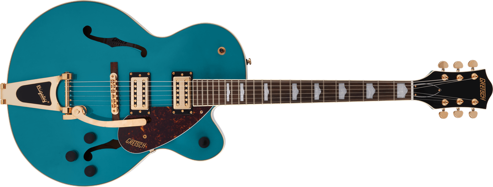 G2410TG Streamliner™ Hollow Body Single-Cut with Bigsby® and Gold Hardware, Laurel Fingerboard, Ocean Turquoise