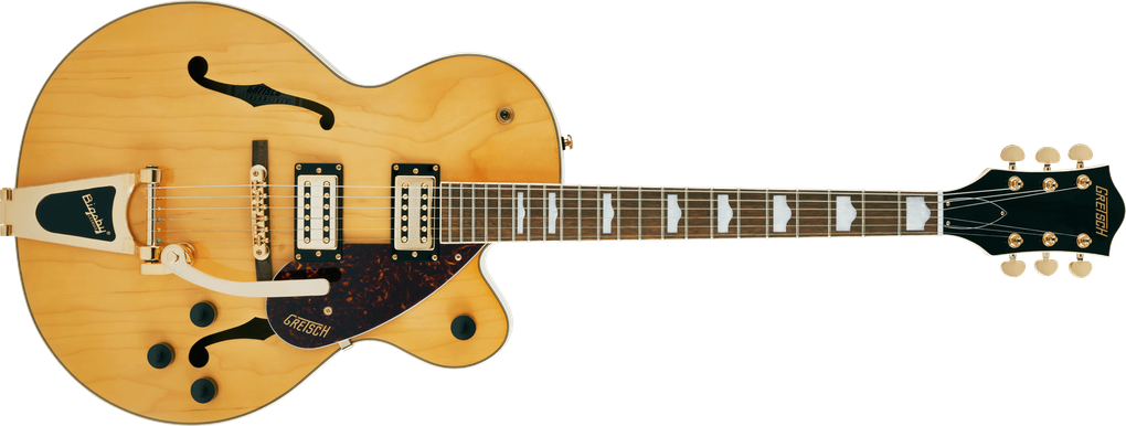 G2410TG Streamliner™ Hollow Body Single-Cut with Bigsby® and Gold Hardware, Laurel Fingerboard, Village Amber