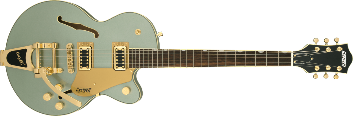 G5655TG Electromatic® Center Block Jr. Single-Cut with Bigsby® and Gold Hardware, Laurel Fingerboard, Aspen Green