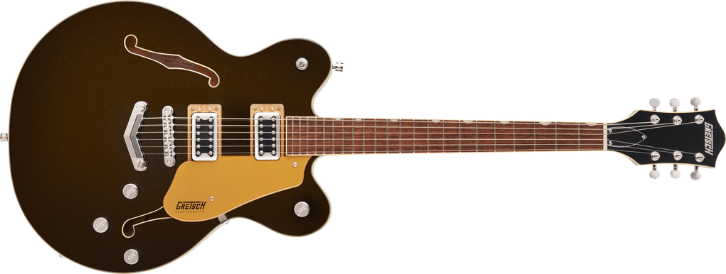 G5622 Electromatic® Center Block Double-Cut with V-Stoptail, Laurel Fingerboard, Black Gold