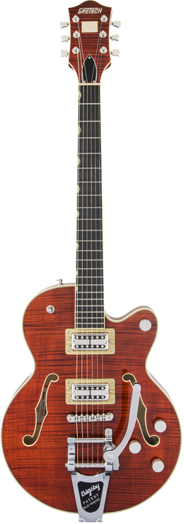 G6659TFM Players Edition Broadkaster® Jr. Center Block Single-Cut with String-Thru Bigsby® and Flame Maple