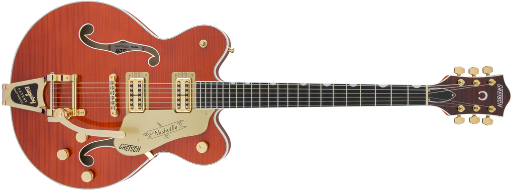 G6620TFM Players Edition Nashville® Center Block Double-Cut with String-Thru Bigsby® and Flame Maple, Filter'Tron™ Pickups, Orange Stain