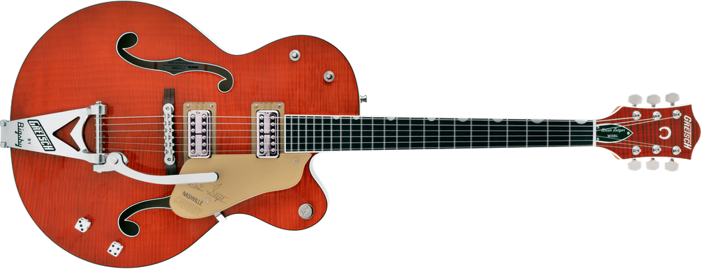 Limited Edition - G6120TFM-BSNV Brian Setzer Signature Nashville® Hollow Body with Bigsby® and Flame Maple, Ebony Fingerboard, Orange Stain
