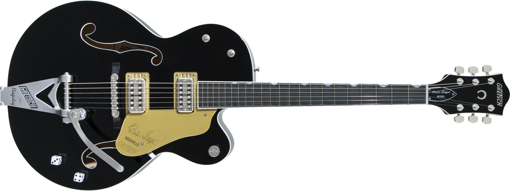 G6120T-BSNSH Brian Setzer Signature Nashville® Hollow Body with Bigsby®, Ebony Fingerboard, Black Lacquer