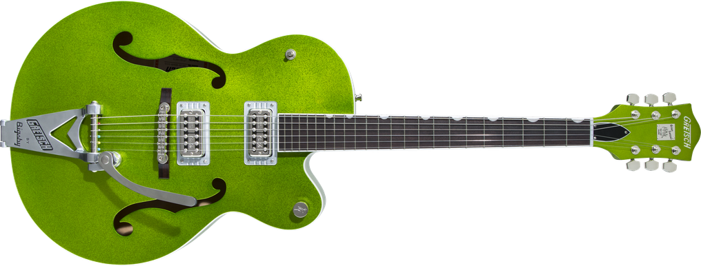 G6120T-HR Brian Setzer Signature Hot Rod Hollow Body with Bigsby®, Rosewood Fingerboard, Extreme Coolant Green Sparkle