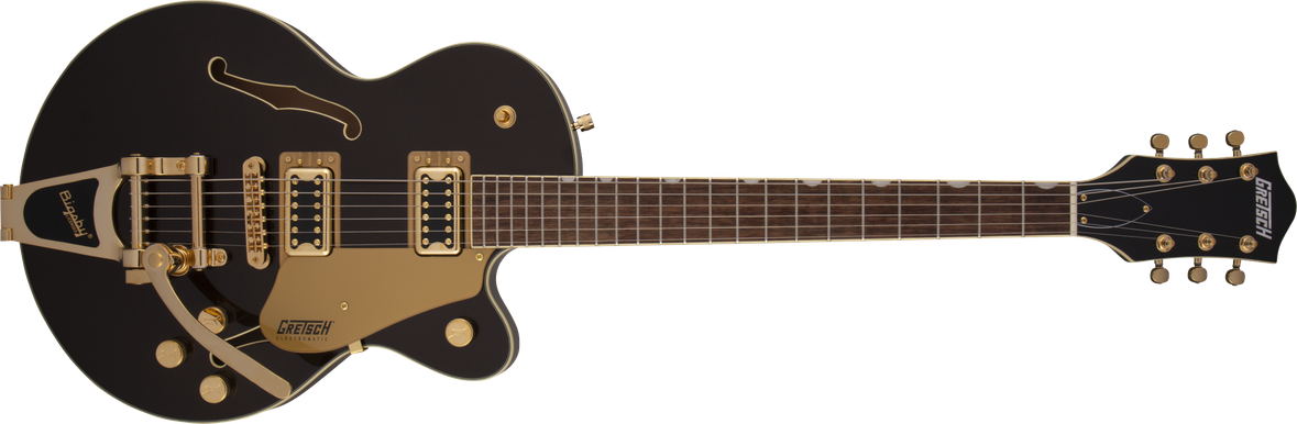 G5655TG Electromatic® Center Block Jr. Single-Cut with Bigsby® and Gold Hardware, Laurel Fingerboard, Black Gold
