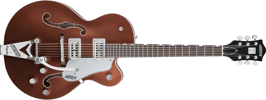 G6118T Players Edition Anniversary™ Hollow Body with String-Thru Bigsby®, Rosewood Fingerboard, Two-Tone Copper Metallic/Sahara Metallic