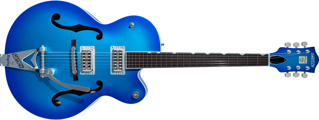G6120T-HR Brian Setzer Signature Hot Rod Hollow Body with Bigsby®, Rosewood Fingerboard, Candy Blue Burst