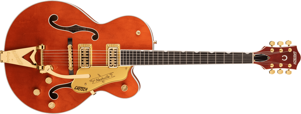 G6120TG Players Edition Nashville® Hollow Body with String-Thru Bigsby® and Gold Hardware, Ebony Fingerboard, Orange Stain