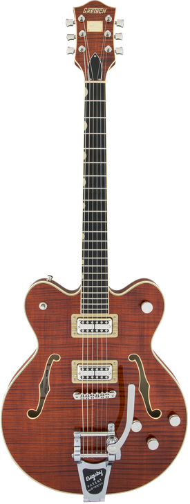 G6609TFM Players Edition Broadkaster® Center Block Double-Cut with String-Thru Bigsby® and Flame Maple
