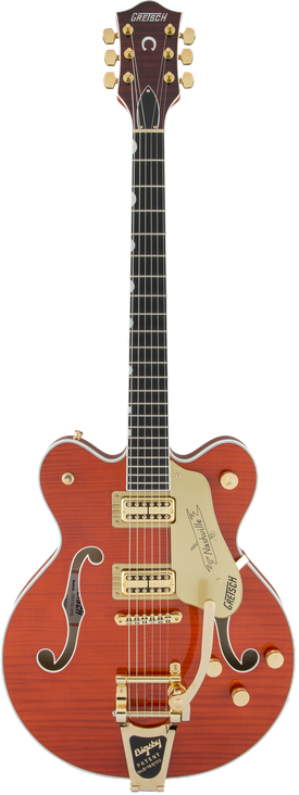 G6620TFM Players Edition Nashville® Center Block Double-Cut with String-Thru Bigsby® and Flame Maple