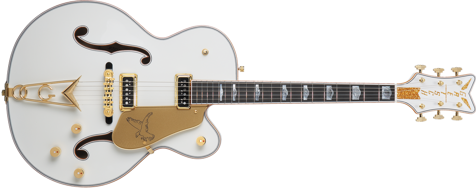 G6136CST USA Custom Shop White Falcon™, Ebony Fingerboard, White