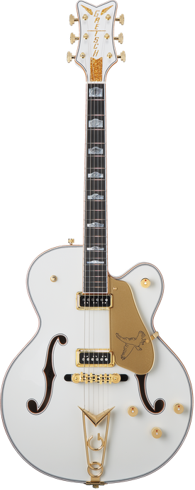 G6136CST Custom Shop White Falcon™ Hollow Body with Cadillac Tailpiece