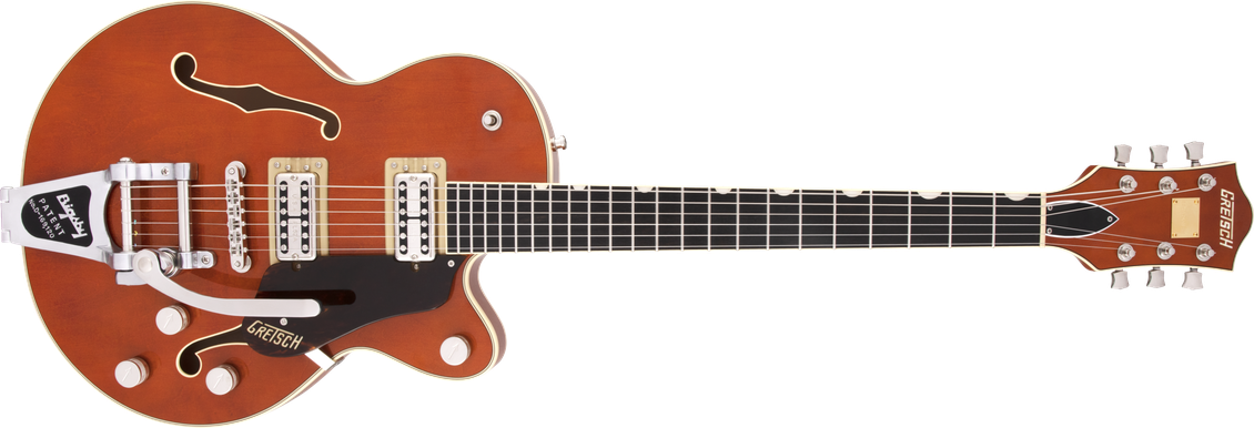 G6659T Players Edition Broadkaster® Jr. Center Block Single-Cut with String-Thru Bigsby®, USA Full'Tron™ Pickups, Ebony Fingerboard, Roundup Orange