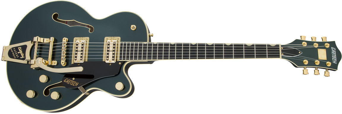 G6659TG Players Edition Broadkaster® Jr. Center Block Single-Cut with String-Thru Bigsby® and Gold Hardware, USA Full'Tron™ Pickups, Ebony Fingerboard, Cadillac Green