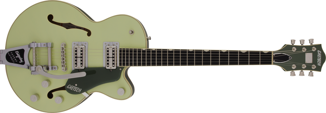 G6659T Players Edition Broadkaster® Jr. Center Block Single-Cut with String-Thru Bigsby®, USA Full'Tron™ Pickups, Ebony Fingerboard, Two-Tone Smoke Green