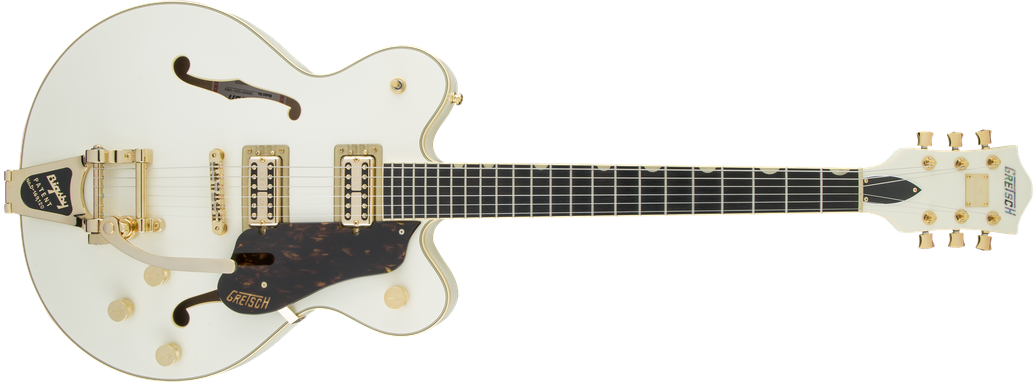 G6609TG Players Edition Broadkaster® Center Block Double-Cut with String-Thru Bigsby® and Gold Hardware, USA Full'Tron™ Pickups, Vintage White