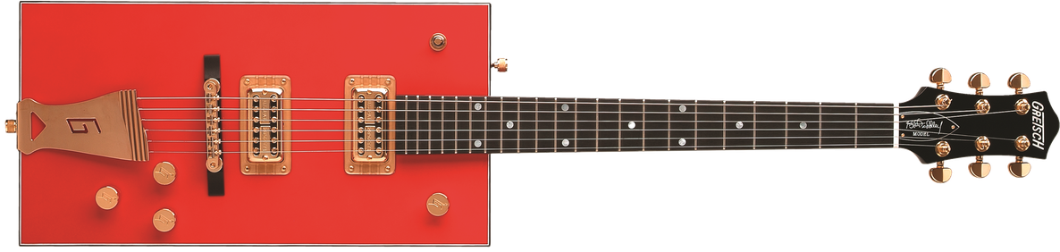 "G6138 Bo Diddley, ""G"" Cutout Tailpiece, Ebony Fingerboard, Firebird Red"