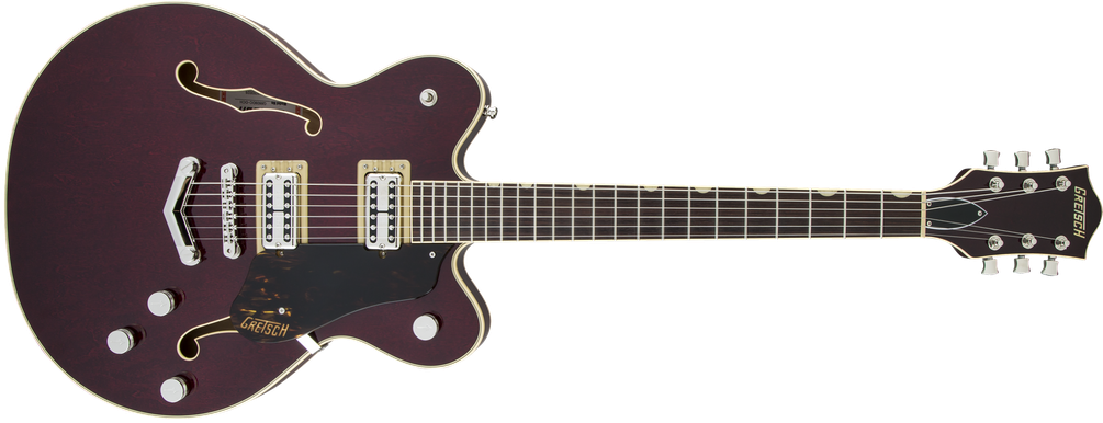 G6609 Players Edition Broadkaster® Center Block Double-Cut with V-Stoptail, USA Full'Tron™ Pickups, Dark Cherry Stain