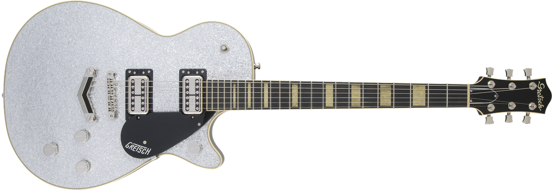 G6229 Players Edition Jet™ BT with V-Stoptail, Rosewood Fingerboard, Silver Sparkle