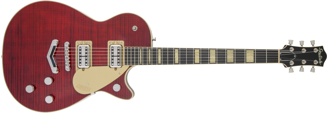 G6228FM Players Edition Jet™ BT with V-Stoptail, Flame Maple, Ebony Fingerboard, Crimson Stain