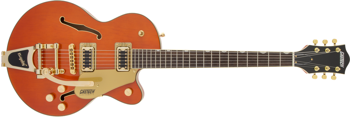 G5655TG Electromatic® Center Block Jr. Single-Cut with Bigsby® and Gold Hardware, Laurel Fingerboard, Orange Stain