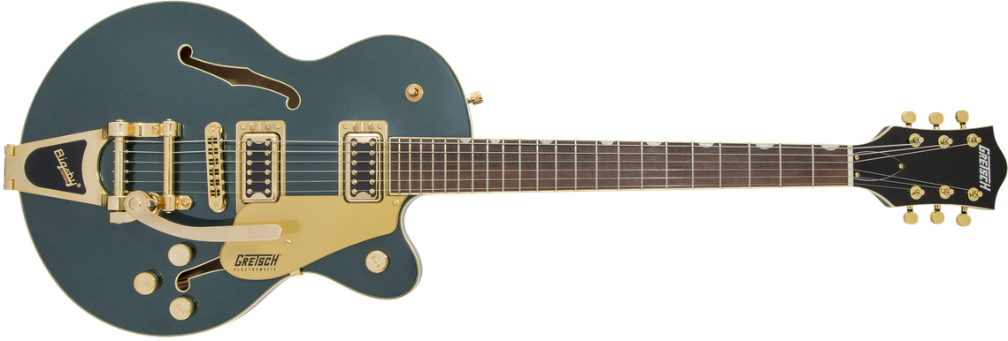 G5655TG Electromatic® Center Block Jr. Single-Cut with Bigsby® and Gold Hardware, Laurel Fingerboard, Cadillac Green