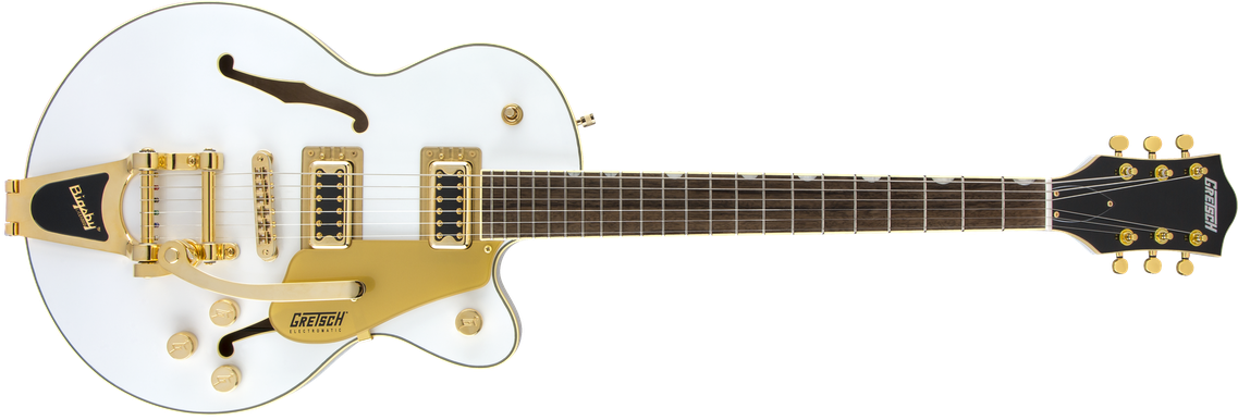 Limited Edition - G5655TG Limited Edition Electromatic® Center Block Jr. Single-Cut with Bigsby® and Gold Hardware, Laurel Fingerboard, Snow Crest White
