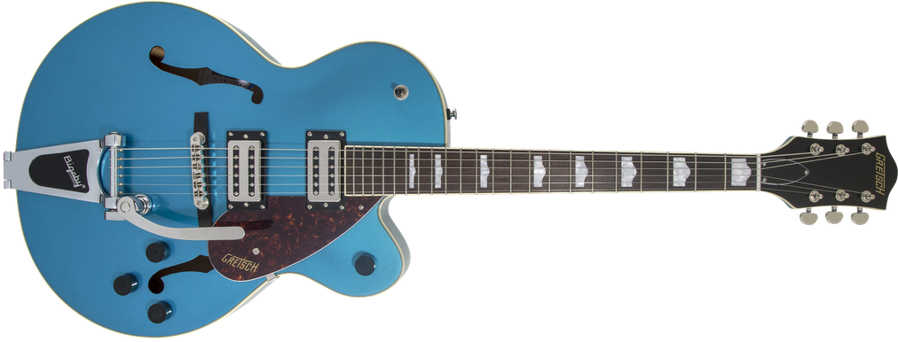G2420T Streamliner™ Hollow Body with Bigsby®, Laurel Fingerboard, Broad'Tron™ BT-2S Pickups, Riviera Blue