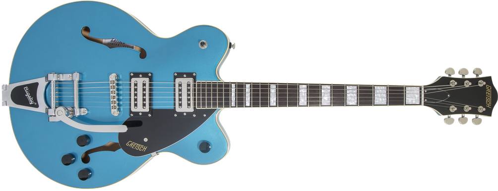 G2622T Streamliner™ Center Block with Bigsby®, Laurel Fingerboard, Broad'Tron™ BT-2S Pickups, Riviera Blue
