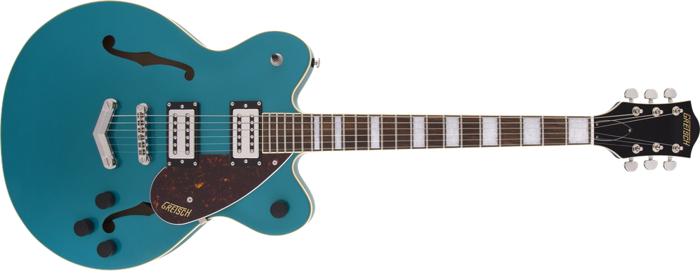 G2622 Streamliner™ Center Block Double-Cut with V-Stoptail, Broad'Tron™ BT-2S Pickups, Laurel Fingerboard, Ocean Turquoise