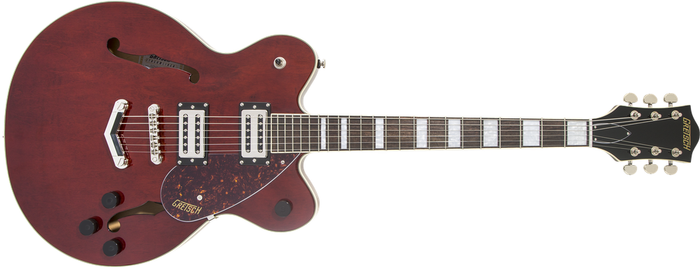 G2622 Streamliner™ Center Block with V-Stoptail, Laurel Fingerboard, Broad'Tron™ BT-2S Pickups, Walnut Stain