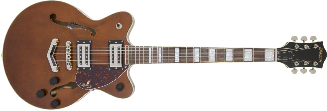 G2655 Streamliner™ Center Block Jr. with V-Stoptail, Laurel Fingerboard, Broad'Tron™ BT-2S Pickups, Single Barrel Stain