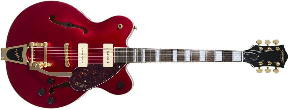 Limited Edition - G2622TG-P90 Limited Edition Streamliner™ Center Block P90 with Bigsby® and Gold Hardware, Laurel Fingerboard, Candy Apple Red