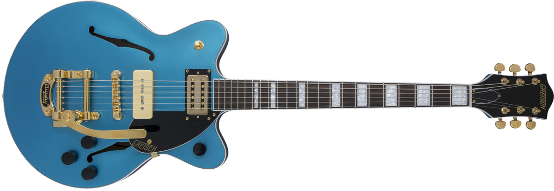 Limited Edition - G2655TG-P90 LTD Streamliner Center Block Jr. Double Cutaway, Rosewood Fingerboard, Riviera Blue Satin