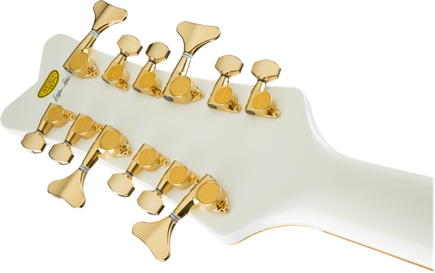 G6136B-TP12 Custom Shop Tom Petersson Signature White Falcon™ Bass 12-String with Cadillac Tailpiece, White Lacquer